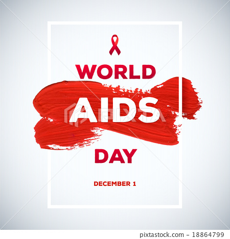 World Aids Day concept brush stroke poster - Stock ...