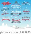 Merry Christmas typographic background 18868973