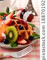 華夫餅 水果 西式甜點 18870192