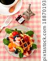 華夫餅 水果 西式甜點 18870193