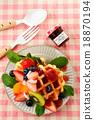 華夫餅 水果 西式甜點 18870194