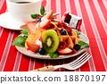 華夫餅 水果 西式甜點 18870197