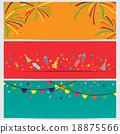 celebration banner, vector flat design 18875566