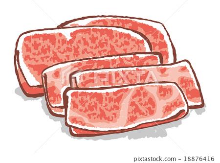 牛肉 肉 肉体 18876416