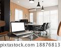 Interior conference room, meeting room, boardroom 18876813