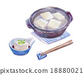 煮豆腐 水彩畫 用鍋烹飪 18880021