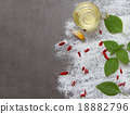 Mix spices on stone background. 18882796