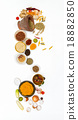 spices for health on white background. 18882850