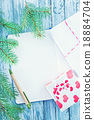 notebook and christmas decoration 18884704