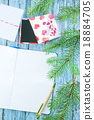 notebook and christmas decoration 18884705