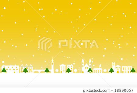 크리스마스 트리와 거리 18890057