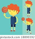 Young man playing basketball 18890392