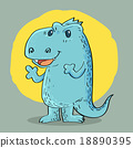 Dragon cartoon design 18890395
