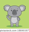 Smiling cute cartoon koala 18890397