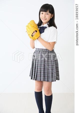 Girls high school student 18893657