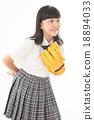 Girls high school student 18894033