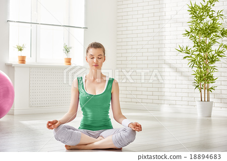 Stock Photo: practice yoga