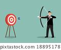 Arrow hitting target 18895178