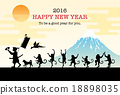 new year's card, vectors, vector 18898035