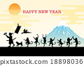 new year's card, vectors, vector 18898036