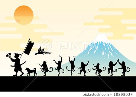 모모 타로와 원숭이의 행진 18898037