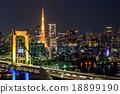 Tokyo Tower, Rainbow Bridge, and Tokyo SKyline 18899190