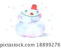 雪人 雪 下雪的 18899276