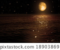 moon in the night sky 18903869