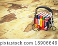 Learning languages online. Audiobooks concept. 18906649