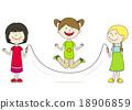 children in skipping rope 18906859