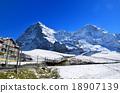 瑞士阿爾卑斯山 雪山 艾格峰 18907139