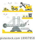 Flat design mining site equipment 18907858