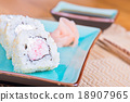 California maki sushi with crab meat on plate 18907965