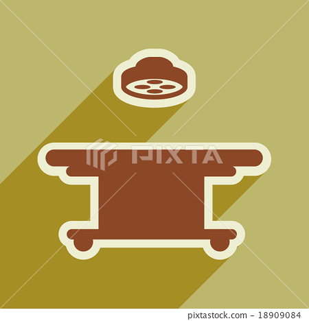 Icon of operating table in flat style 18909084