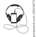 Mobile phone and headphones 18910673