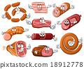 sausage, wurst, butcher 18912778