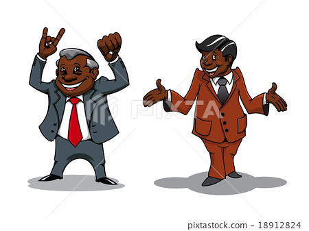Successful cartoon businessman and manager 18912824