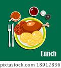 午餐 午饭 面条 18912836