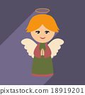 flat icon with long shadow Christmas angel 18919201