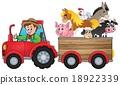 tractor farmer trailer 18922339