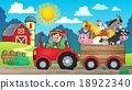 tractor, farmer, trailer 18922340