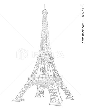 3d Eiffel Tower render 18924165