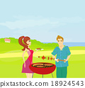 Barbecue Party - cook and girl 18924543