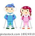滑雪 冬季運動 女孩們 18924910
