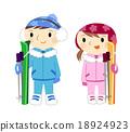 滑雪 冬季運動 女孩們 18924923