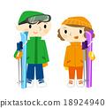 滑雪 冬季運動 戀人 18924940