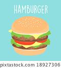 fresh cheese hamburger graphic vector illustration 18927306