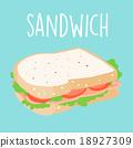 fresh ham sandwich graphic vector illustration 18927309