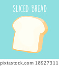 plain sliced bread vector illustration 18927311