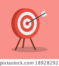 Arrow hitting target 18928292